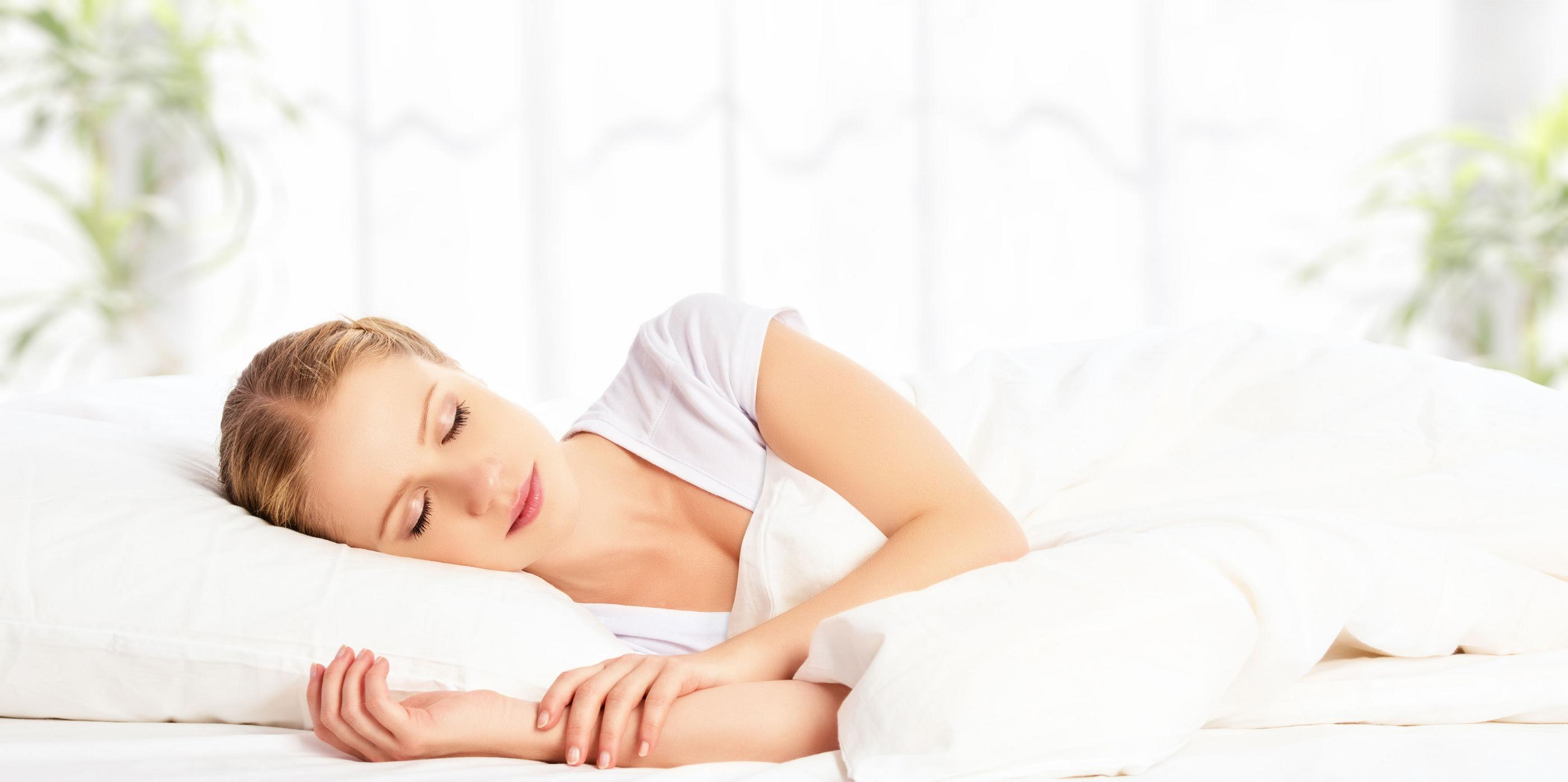 Comfortable Woman Sleeping Peacefully on a Premium Quality Heartland Mattress